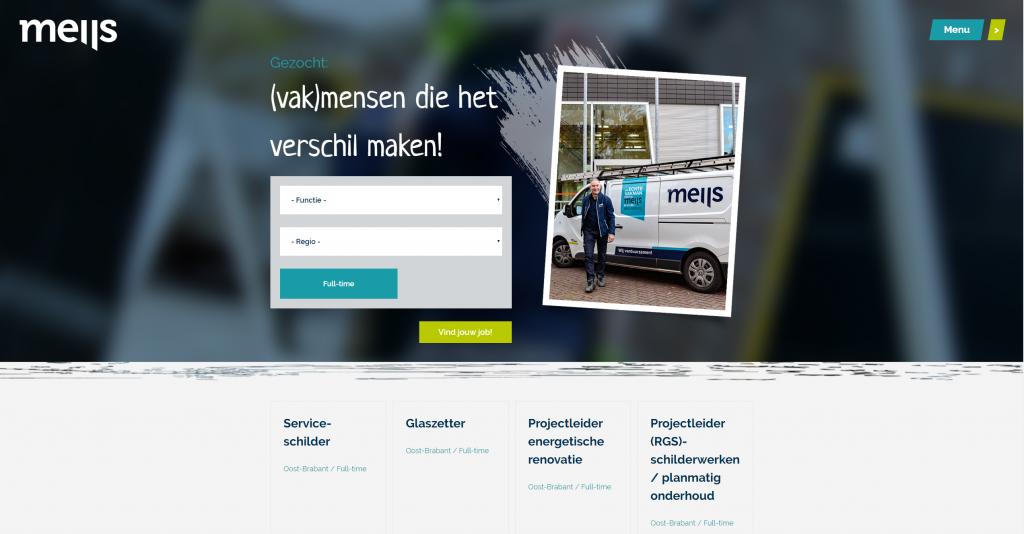 Werken bij Van der Meijs: een nieuwe website!