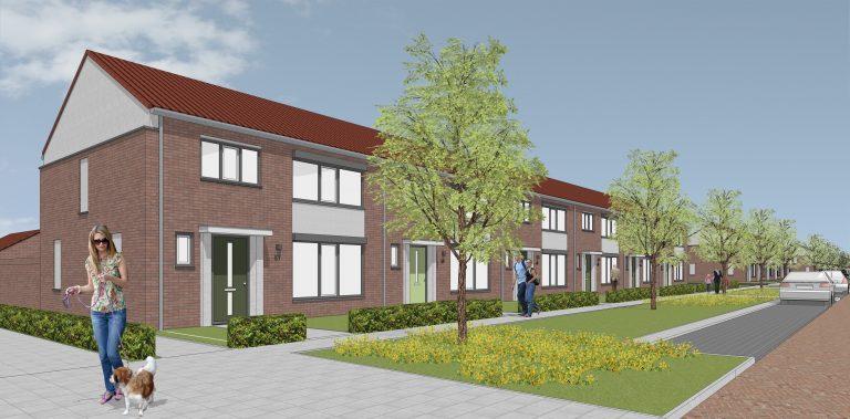 Volledige gevelrenovatie en energetische maatregelen voor 23 woningen