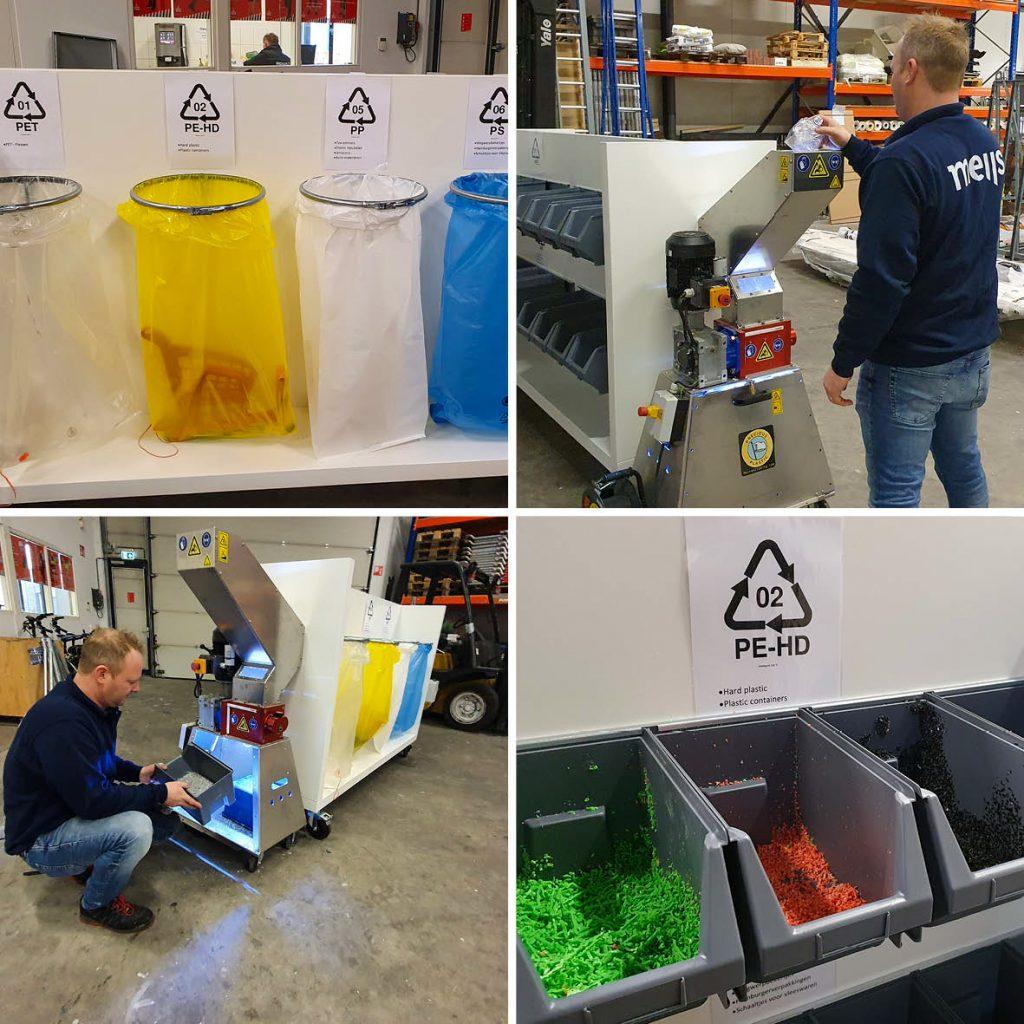Handige afvalscheidingswand voor plastic afval